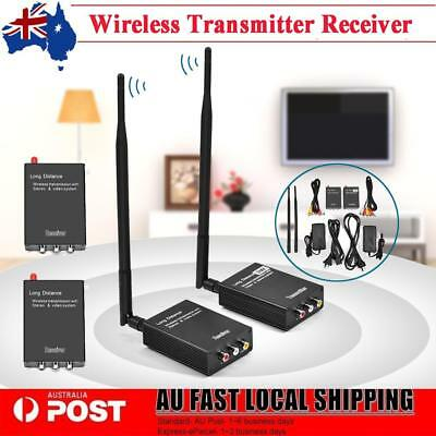 2.4GHz Wireless Audio Video AV Transmitter Sender & Receiver 2-channel HiFi 2Km
