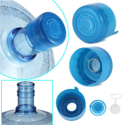 5Pcs Non-Spill Water Snap On Cap Replacement Bottle Reusable 55mm 3-5 Gallon Jug