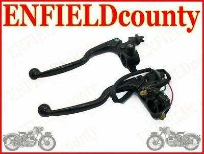 New Royal Enfield Black Brake & Clutch Lever Assembly @de