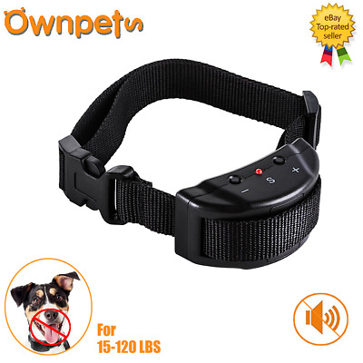 Anti Bark No Barking Training Collar Shock Control Small Medium Large Pet Dog