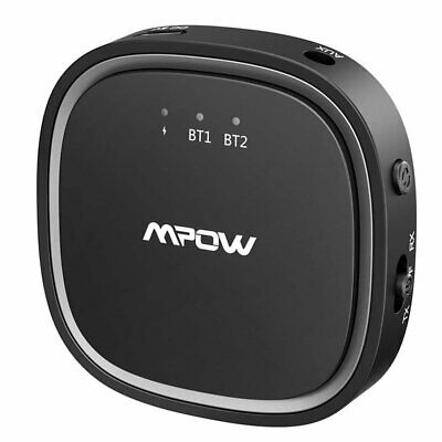 Mpow 2 in 1 Bluetooth 5.0 Receiver Transmitter Wireless Stereo AUX Audio Adapter