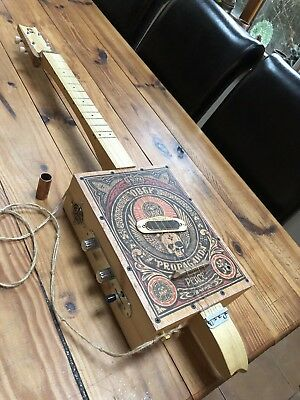 4 string cigar box Style guitar