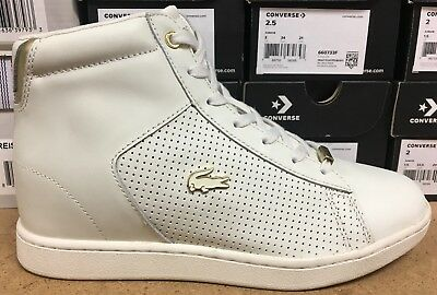 c858469c2 Lacoste Carnaby Evo Wedge 317 4 Women s Sneakers Off White 7-34SPW004406B L