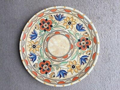 "Charlotte Rhead Charger Plate, 14"" Crown Ducal 'Mexican' pattern 6189"