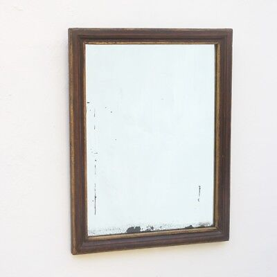 Faux rosewood period mirror