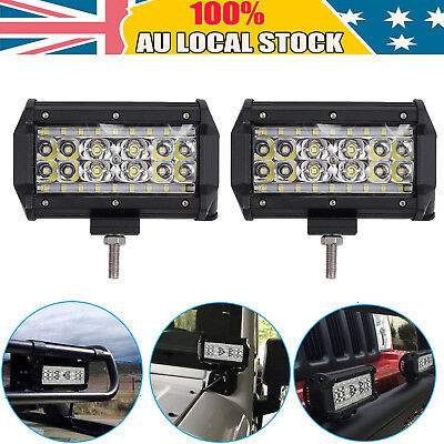 5inch 168W CREE LED Work Driving Light Bar Flood Beam Offroad Boat Truck 10-30V