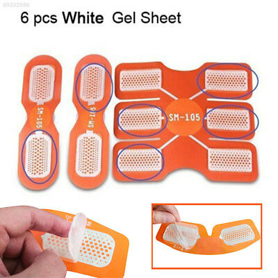 B432 6Pcs/Pack Exerciser Training Fitness Abdominal Paste Silicone Sport Tools