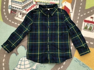 M&S Cosy Checked Shirt 18-24 Months