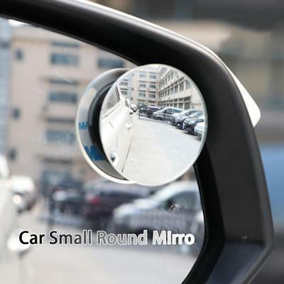 1 pair Car Rimless Small Round Wide Angle Rear Side View Blind Spot Mirror Parts