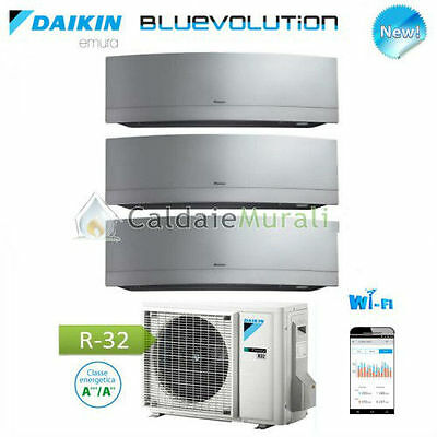 Conditionneur D'Air Daikin Trial Emura Argent Wifi Bluevolution 9+9+9 + 3MXM68M
