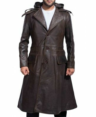 Men Assassins Creed Syndicate Jacob Frye Cosplay Costume Trench Leather Coat