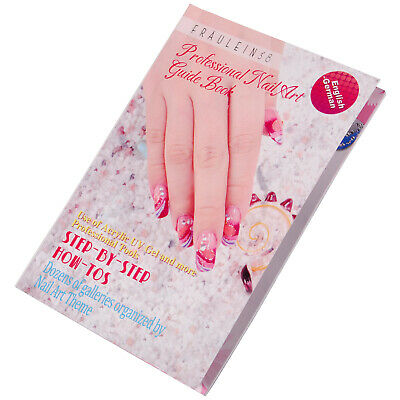 Painting Glitter Design Nail Art 3D Acrylic UV Gel Decals Guide Book