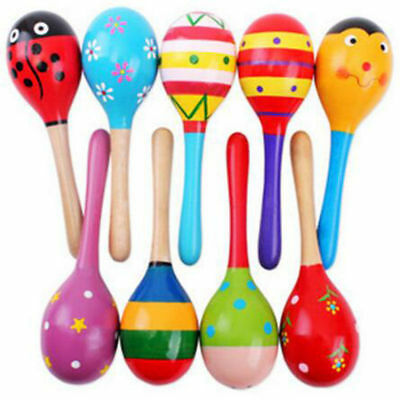 Colorful Cartoon Wooden Baby Kids Sound Music Toddler Rattle Musical Gifts Toys