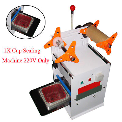 Durable Semi-Automatic Square Food Tray Box Cup Sealing Machine Shop Markets CE