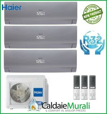 Conditionneur D'Air Trial Haier Nebula Vert Grey R-32 7+9+9 avec 3U52S2SG1FA