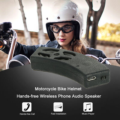 Wireless Bluetooth Bike Motorcycle Audio Stereo Speaker Helmet Handsfree Call
