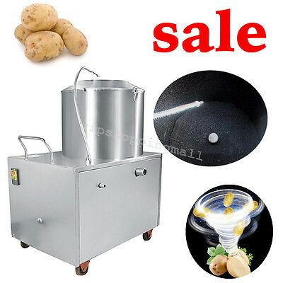 Commercial Automatic Potato Peeler Sweet Potato Peeling &Cleaning Machine 1500W