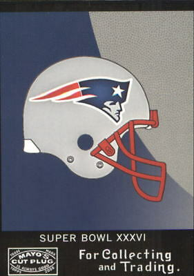 2008 Topps Mayo Super Bowl Match-Up Football Card  SB36A New England  Patriots 498c25018