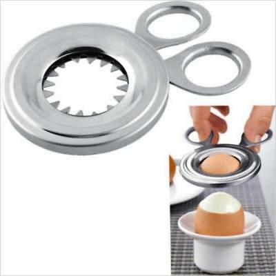 Kitchen Craft Stainless Steel Boiled Egg Shell Topper Cutter MA