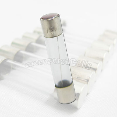 10 x 5A Amp 250V 5000mA 6 x 30mm Quick Fast Blow Glass Tube Fuse Fast Blow RoHS