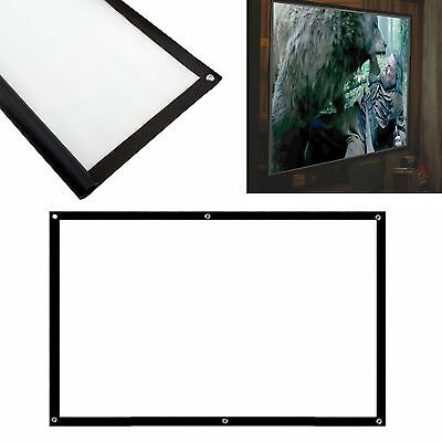 """100"""" inch 3D/HD Projection Screen Home Cinema Projector Fabric 16:9 Matte RP"""