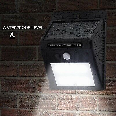 20LED Solar Powered PIR Motion Sensor Security Wall Light Outdoor Garden Lamp SL