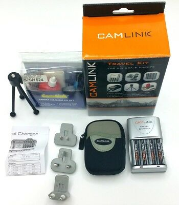 Camlink Travel Camera Kit Universal 6 in 1 Charger/ Cleaning/ Tripod/ case/ Cell