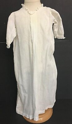 Vintage Toddlers Infant Girls White Dress Night Christening Gown Large Doll