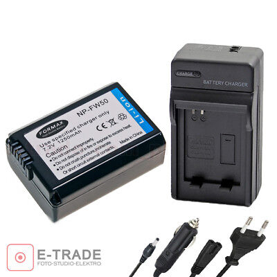 NP-FW50 Battery+Charger For Sony NEX 3 3A 5 5D, ZOOM 470 50 60, A33 A35 A37 A55