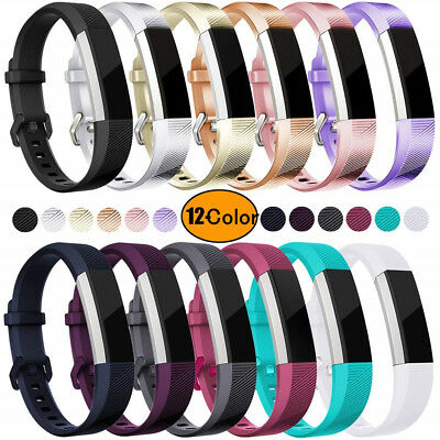 New Replacement Silicone Wrist Band Secure Buckle for Fitbit Alta HR / Alta AU