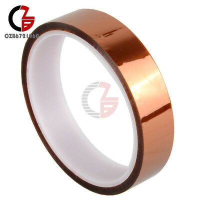 2PCS 30M 20mm 100ft Tape Adhesive High Temperature Resistant Polyimide