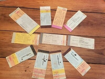 VINTAGE Walt Disney World ASST. Ticket Booklets RARE Collectible Over 40 Tickets