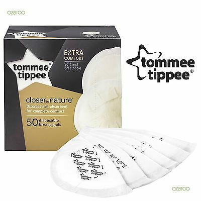 New Tommee Tippee Closer To Nature Thin and discreet Disposable Breast Pads x 50