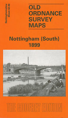 Old Ordnance Survey Map Nottingham (South) 1899