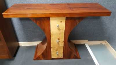Three Drawer Art Deco Sideboard/ Table - Delivery can be quoted