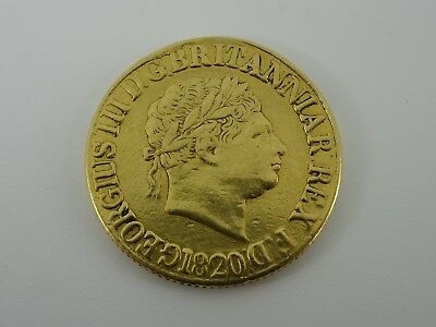 Full Sovereign 1820 Georgian George Iii 22Ct Gold Coin St George & Dragon 8G