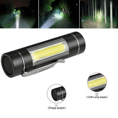Super Bright XPE Q5 + COB LED mini Flashlight Small Torch Pocket Lamp Light KY