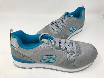79617e79a4341 NEW! SKECHERS WOMEN'S OG 85 QUICK STITCH Sneakers Gry/Blu Size:8.5 ...
