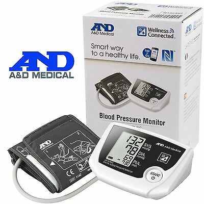 A&D Medical Wireless Connected Automatic LCD Blood Pressure Monitor + NFC UA-767