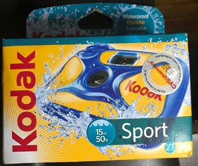 Kodak Sport Disposable Camera Waterproof 50ft -  27 Shots Sealed