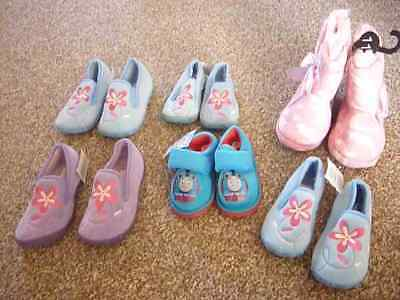 6X Pairs Girls Slippers Bulk Job Lot Fluffy Ankle Boots Christmas Birthday Gift