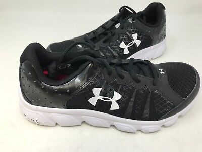 ad6a5d96686651 Under Armour Youth Boy s Assert 6 Running Shoes Blk Wht  1266318 24R5