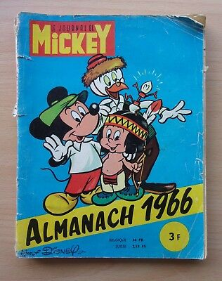 ►  Le Journal De Mickey  / Almanach 1966