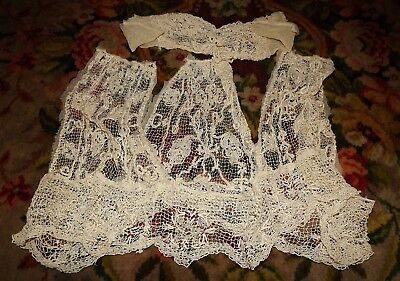 Lot of Hand Made ANTIQUE EDWARDIAN LACES Pieces of Dress TRIM