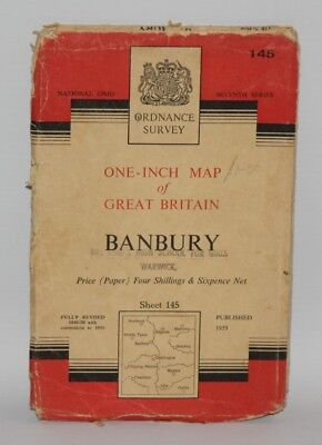 Ordnance Survey One Inch Map - Banbury - Sheet 145 - 1953