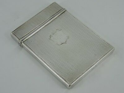 Nathaniel Mills Solid Silver Engine Turned Visiting Card Case Birmingham 1838