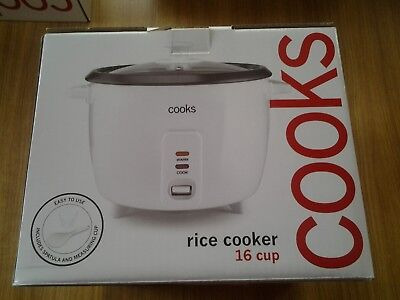 Cooks By Jc Penny 16 Cup Rice Cooker White New Box Free Shipping