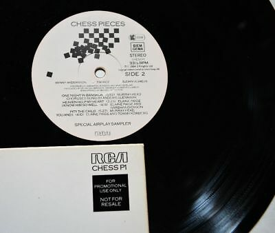 ABBA - Chess Pieces - Special Airplay Sampler - 12 Inch Vinyl Album - GERMANY