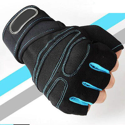 Body Building Fitness Weight Lifting Gloves Gym Training Cycling Wrist Support