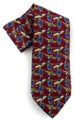 Rooster Men's Necktie West End Collection 100% Silk Made in USA Kayak Graphics